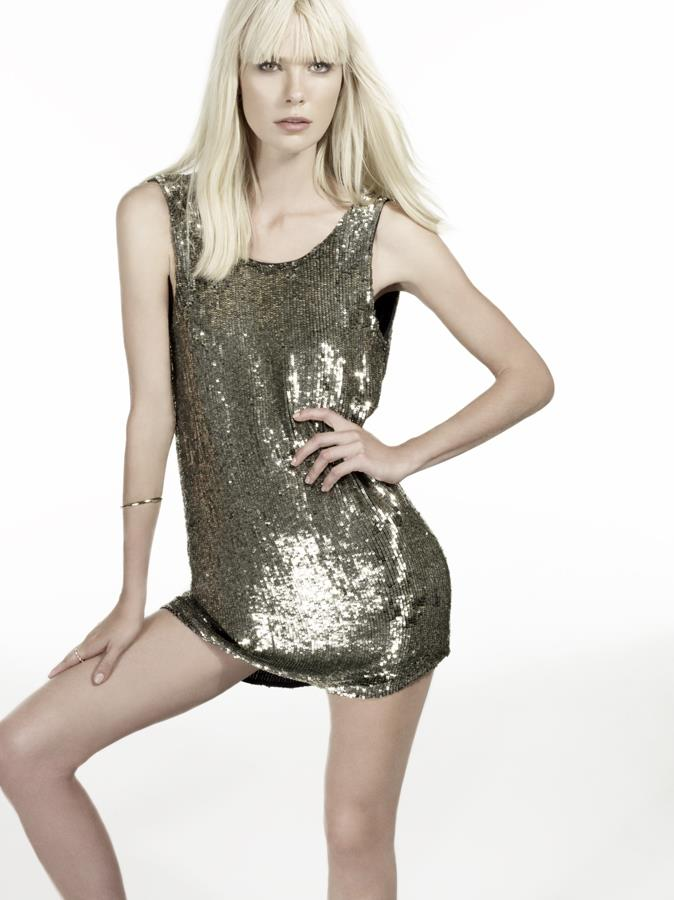 faith connexion sequin dress gold
